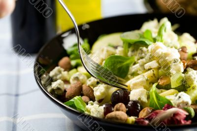 Delicious lunch salad