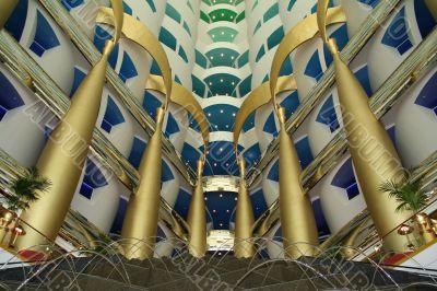 UAE. Dubai. Jumeira. Hotel Burj Al Arab. Reception