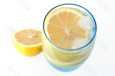Lemon in water.