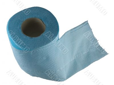 Isolated roll of toilet paper