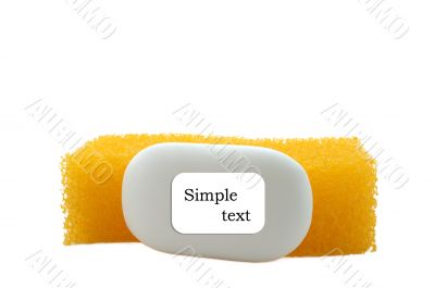 Sponge and soap.