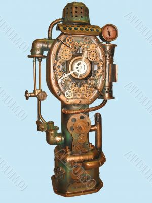 Faucet-clock