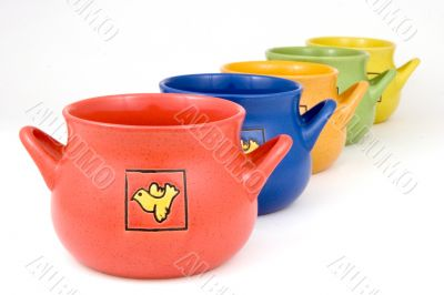 Ceramics pots for decoration  or cooking