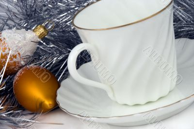 Cup of coffee at Christmas morning