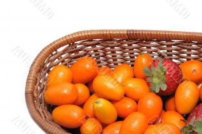Strawberry and kumquats