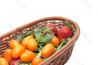 Kumquats and strawberry