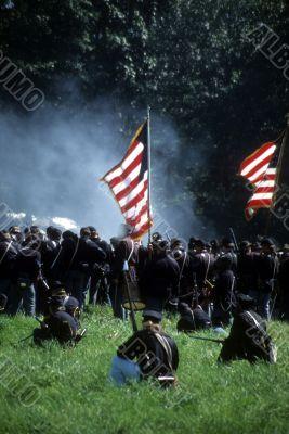 Union line preparing to fire