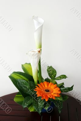 Bouquet with callas and gerbera