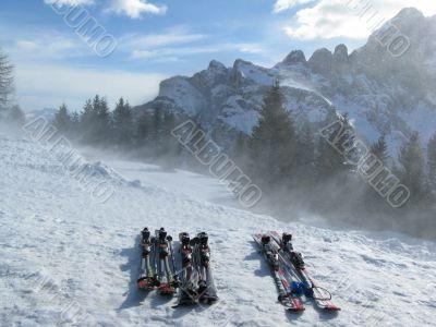 Ski at rest