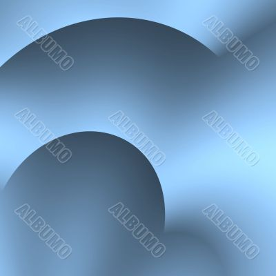Blues Curved Abstract