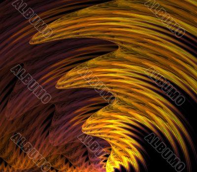 Wavy Streaks Abstract