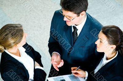 Speaking businesspeople