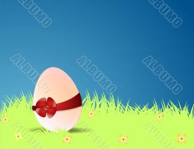 Easter egg, glade, the dark blue sky