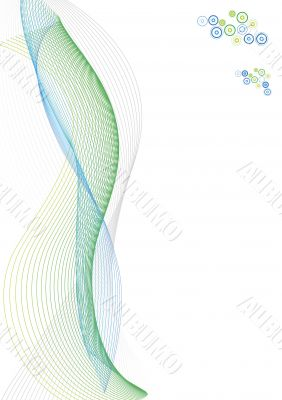 Abstract lines paper template with sample logo