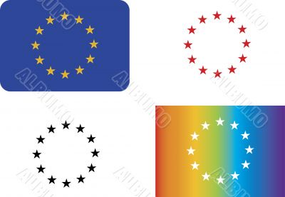 Variations of the European Union symbol