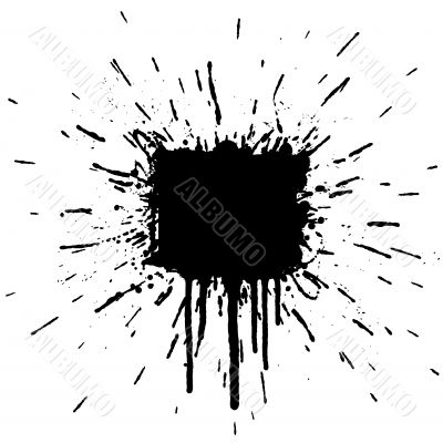 Ink splatter explosion design element