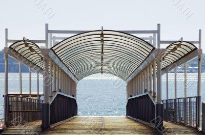 Empty wharf