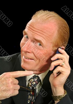 Unwanted Call Businessman