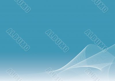 Blue background illustration with flowing lines