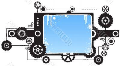 Modern cog clockwork design element