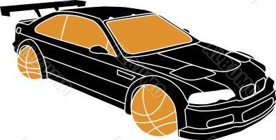 Sportscar vector