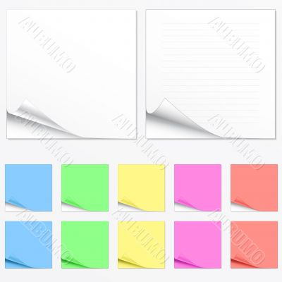 Blank paper pads in different colors