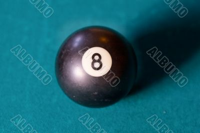 Billiard ball number eight