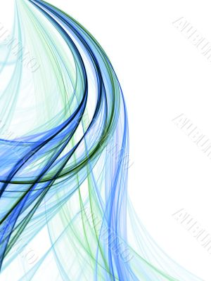 Blue Green Threads Abstract
