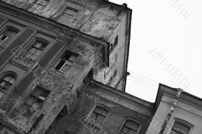 Modern abandoned house