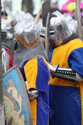 The Swedish knights ready to battle