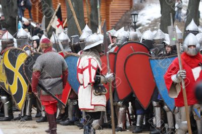 Knights costing at a city gate