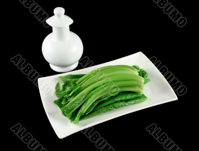 Choy Sum And Soy Sauce