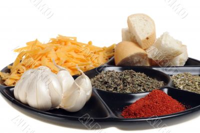 produce to fondue grated cheese garlic ground paprika origanum b