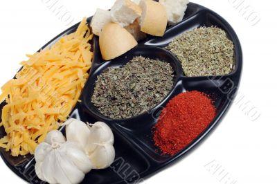 produce to fondue grated cheese garlic ground paprika origanum b