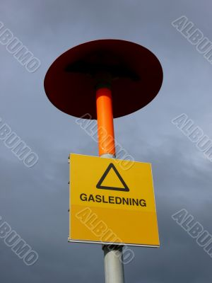 Liquid Gas Warning Sign