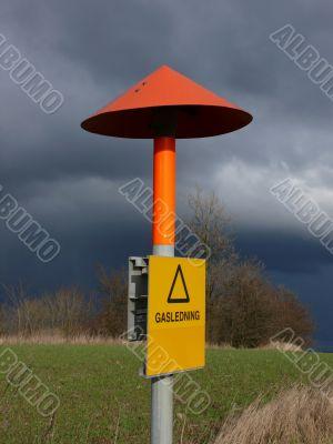 Liquid Gas Warning Sign