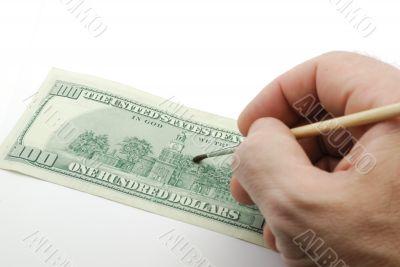 Dollar bank-note drawing