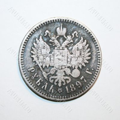 aging silver coin