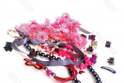 girl`s plastic jewelry