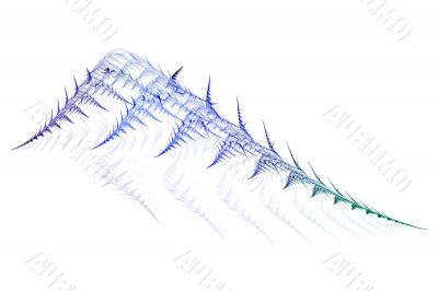Abstract skeletal leaf shape