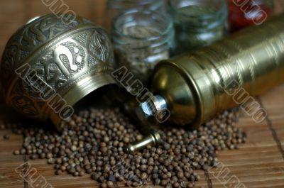 Grinder and herb