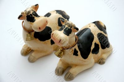 Cow toys with sleigh bell