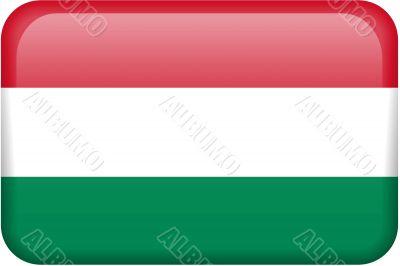 Hungarian Flag Button