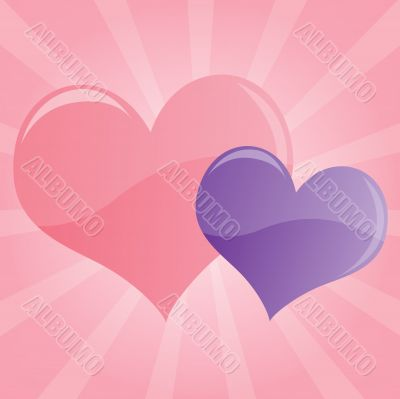 Pastel Hearts Background