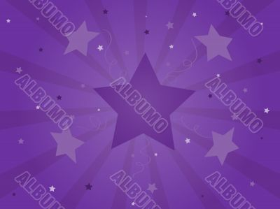 Purple Celebration Starburst