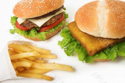 fast food assortment