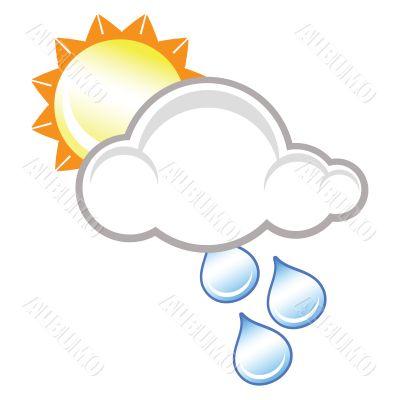 raincloud and sunshine