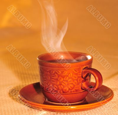 Cup of aroma coffee