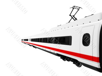 white train isolated view