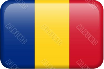 Romania Flag Button